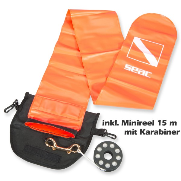 Divestore Safety Set mit Signal-Boje und 15 m Mini Reel
