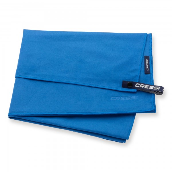 Cressi Microfaser Handtuch 60 x 120 cm, blau - schnell trocknend
