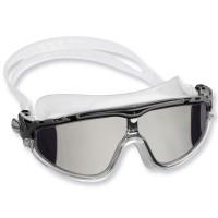 Cressi Schwimmbrille Skylight Mirrored - Anti Fog Gläser, klares Silikon