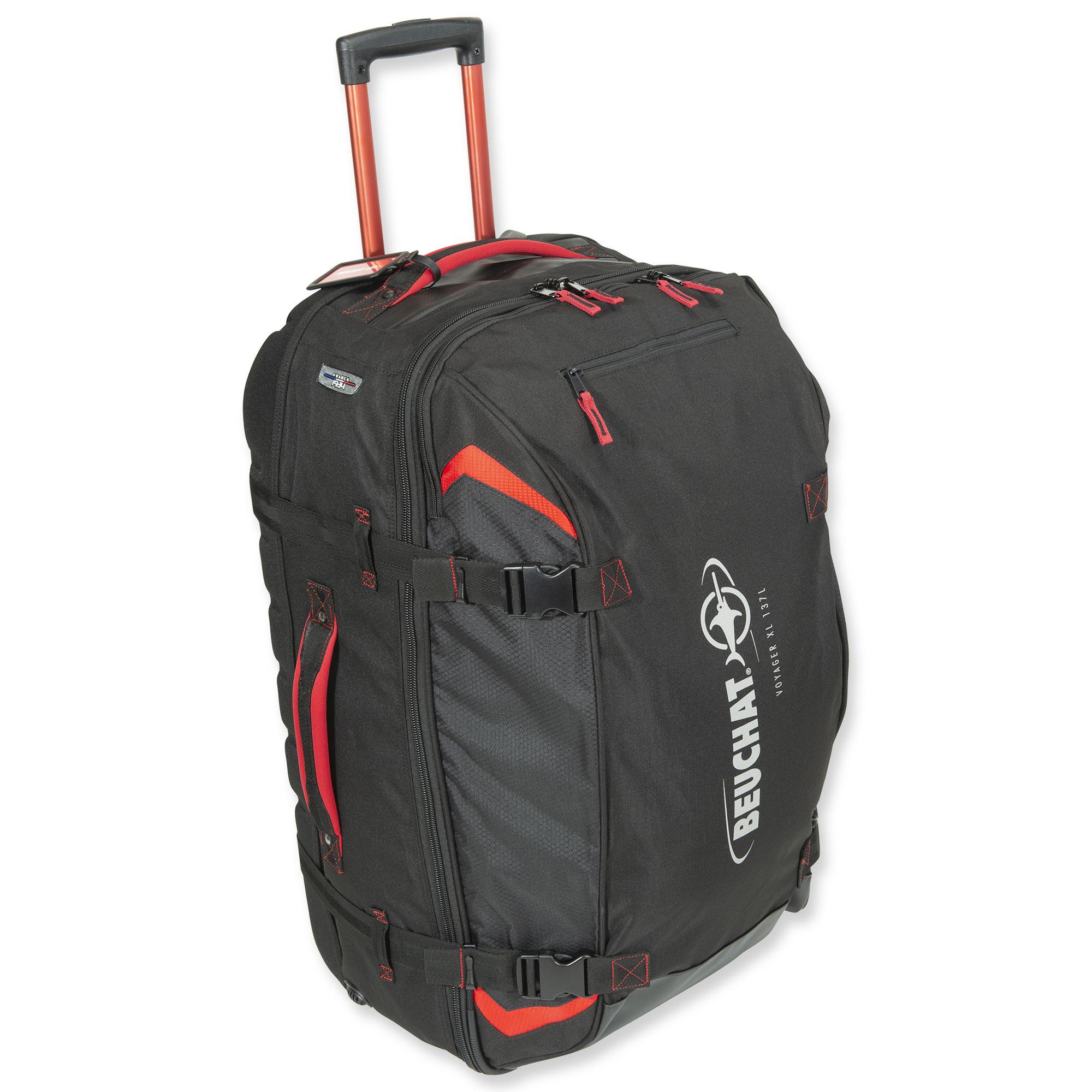 beuchat voyager 2 xl gro e reisetasche und rucksack mit. Black Bedroom Furniture Sets. Home Design Ideas