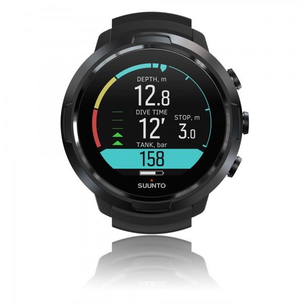 Suunto D5 All Black Tauchcomputer im Uhrenformat - für Luft und Nitrox