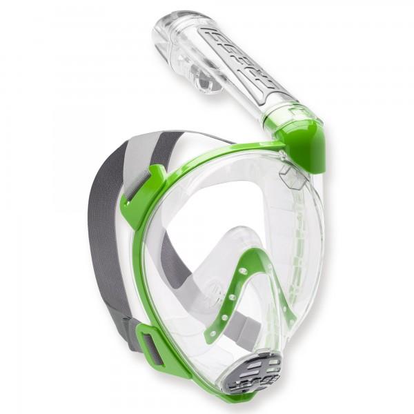 Cressi Duke - Vollgesichtsmaske mit Trockenschnorchel, lime