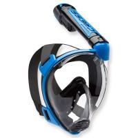 Cressi Duke - Vollgesichtsmaske mit Trockenschnorchel, schwarz blau