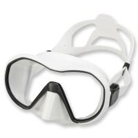 Apeks Tauchmaske VX1 weiß - schwarzes Silikon, klares Glas