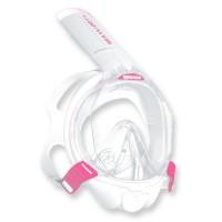Mares Sea Vu Dry plus - Vollgesichtsmaske mit Trockenschnorchel, pink white