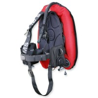 OMS SmartStream Signaure Performence Mono 32 lbs- schwarz rot mit Alu Backplate