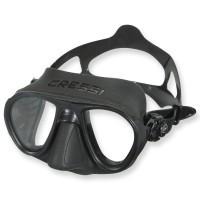 Cressi Calibro Maske - schwarzes Silikon, kleines Volumen