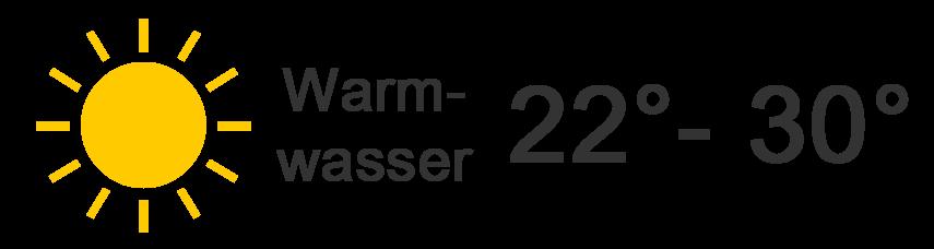 22 - 30 Grad
